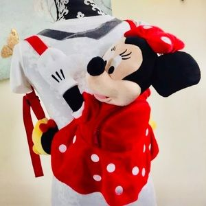 Authentic Disney Parks Plush Minnie Mouse Backpack